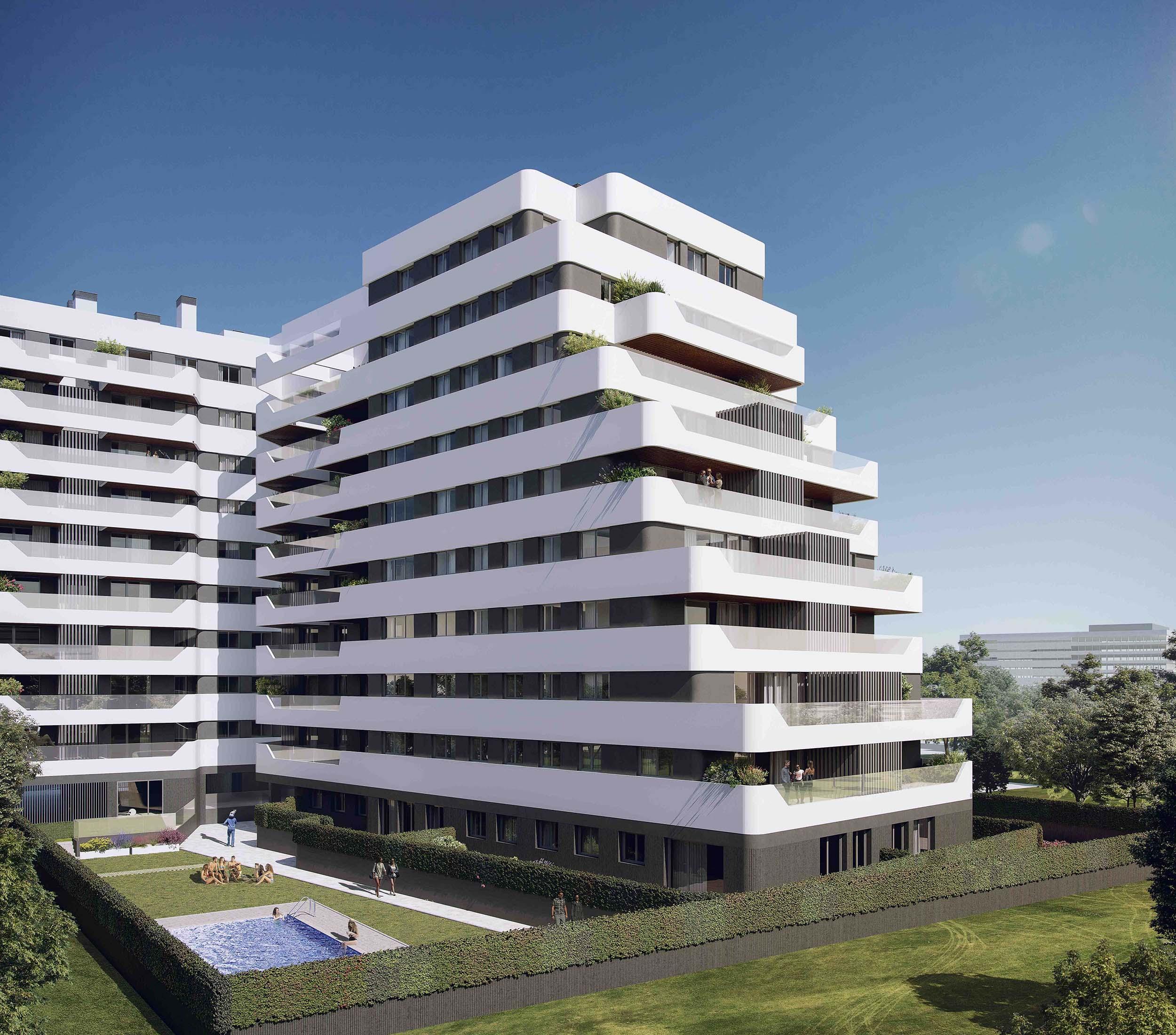 Fachada terrazas de Méndez Álvaro